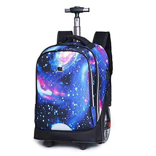 Backpack zaino da 55l con rotelle per adulti e borsa da viaggio per libri universitari, 19,7 pollici,a01