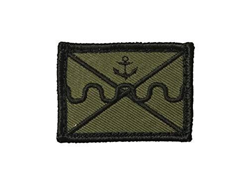 Café Viereck ® Bundeswehr Marineinfanterie Taktik Zeichen Gestickt mit Klett - 5 cm x 3,5 cm