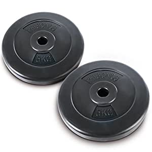 Physionics® HSTA17 2x Weight Discs 5kg Fitness