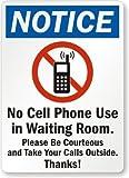 qidushop lustiges Dekoschild Schilder Keine Handy bemerken Verwendung in Wartezimmer Bitte Werden Sie höflich Nehmen Ihre Anrufe Außerhalb durch Metall gardern Garage Einfahrt Schild 18x 25cm