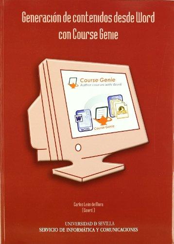 Generación de contenidos desde Word con Course Genie (Manuales Universitarios) por Carlos León de Mora