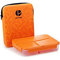 Prêt à Paquet L1003 Lunchbox, 3-fach unterteilt, Hülle orange