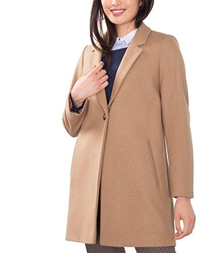 ESPRIT Collection Damen Mantel 086EO1G035, Braun (Camel 230), 36