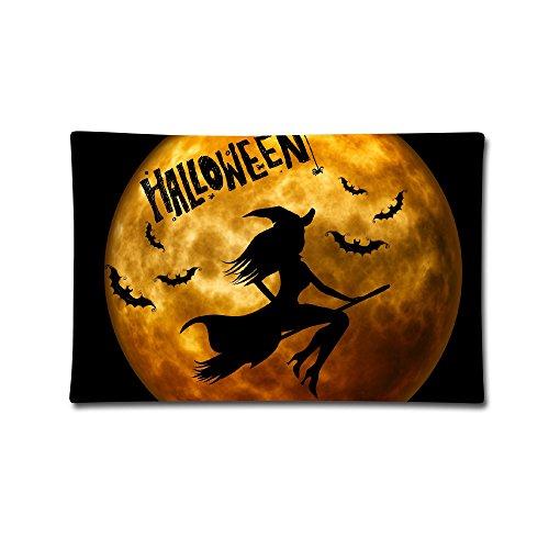 moxicha Halloween Hexen Night Baumwolle Werfen Kissenbezüge 50,8x 76,2cm Kissenbezüge (Billig Kontakte Für Halloween)
