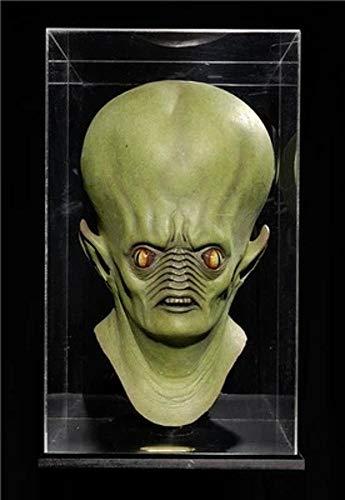 Littlefairy Maske,Halloween cos Horror Alien Hood Maske Simulation Dämon Monster Puzzle Prop Latex Perücke