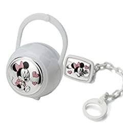 Idea Regalo - Disney Clip Ciuccio, Catenella Portaciuccio con Box in Argento - ideale come regalo per nascita neonato o battesimo