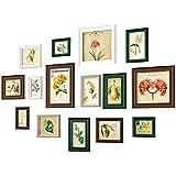 15 Conjunto de Collage de Varios tamaños Diferentes Marcos de Fotos con Vidrio Transparente para Galería