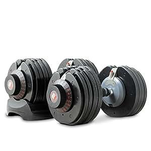 Bodymax Selectabell Dumbbell Pair - Black, 11 - 71 lb