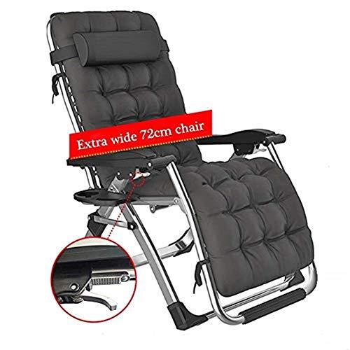 Schwerelosigkeit Chaise Lounges Patio Lounger Klappstuhl Outdoor Verstellbare Liege Strand Camping Tragbaren Stuhl Für Schwere Menschen Mit Kissen -