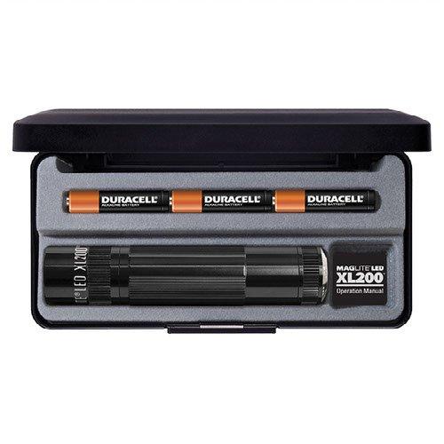 Maglite XL200 en coffret plus Piles LR03-AAA Noir 12.2 cm