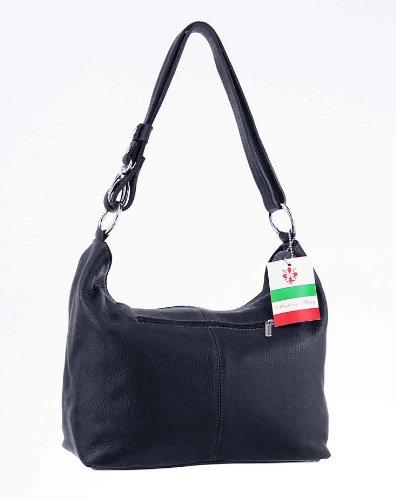 Made Italy , Sac pour femme à porter à l'épaule 28x24x14 cm (BxHxT) - Blanc - Blanc, 28x24x14 cm (BxHxT) EU bleu foncé/Bleu marine