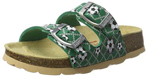 Superfit Jungen Fussbettpantoffel Pantoffeln Grün (Grün)