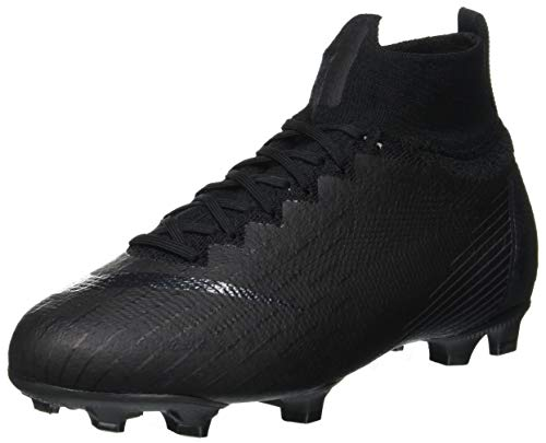 Nike Mercurial Superfly VI Elite Fg, Scarpe da Calcetto Indoor Unisex-Bambini, Nero Black 001, 38 EU
