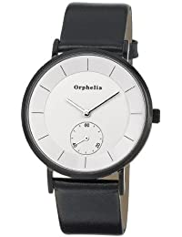 Orphelia Damen-Armbanduhr Piste Noir Analog Quarz Leder