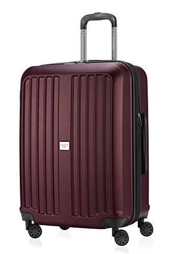 HAUPTSTADTKOFFER X-Berg - Valigia Rigida, Trolley medio ABS, TSA, Taglia 65 cm, 90 Litri, Borgogna