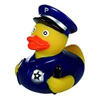 WW Global Trading Children Kids Boys Child - Number One Bathtime Must Have - Novelty Policeman Rubber Bath Duck - Perfect for Stocking Fillers Christmas Xmas Birthday Present Gift Fun Age 3+ or Idea