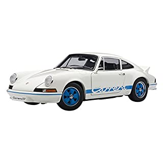 Autoart 78052 - Porsche 911 Carrera 2.7 - 1973 - weiß mit blauen Streifen