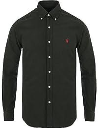 Polo Ralph Lauren SL BD Ppc SPT Long Sleeve Sport Shirt Camicia Uomo in Cotone Stretch Collo Button Down (S, Windsor Navy)
