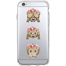 Phone Kandy® Emoji Claro transparente Caso de Shell duro de la piel y la pantalla del protector para el iPhone de la historieta carcasa funda - Prime
