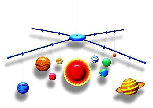 Großer SOLAR SYSTEM MOBILE – BAUSATZ – Planeten und die Sonne glüht im Dunkeln – Mobile – Modell Sonnensystem – tolle Größe und Dekoration für Dein Kinderzimmer (75 cm x 75 cm)