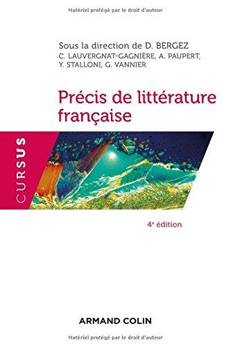 Prcis de littrature franaise - 4e d.