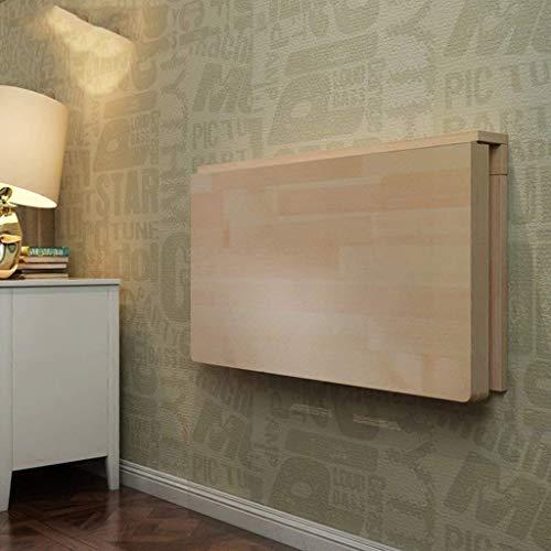 QND Home Drop-Down-Wandtisch, Schreibtisch, Klapp-Esstisch, Massivholztisch, 100-fach, Größe 40 cm,60 * 40 cm, - Klapp-esstisch