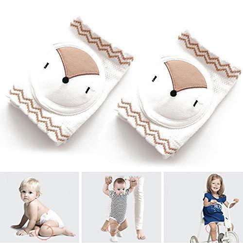 FOONEE Baby Krabbelknieschützer, elastisch, weiche gekämmte Baumwolle, atmungsaktives Netzgewebe, Baby Knieschoner für Jungen und Mädchen Light Fox