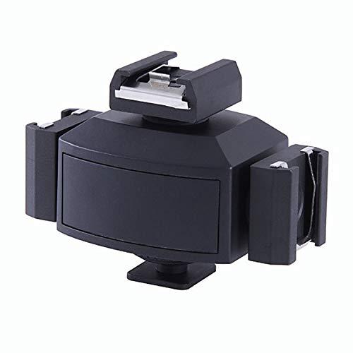 Micnova MQ-THA Dreigliedrigen Kalten Schuh Cold Shoe Adapter für Canon Nikon Olympus DSLR Kameras