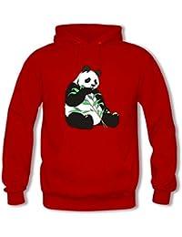 Classic Pullover Hooded Sweatshirt - Women's Funny Panda Pattern Tops