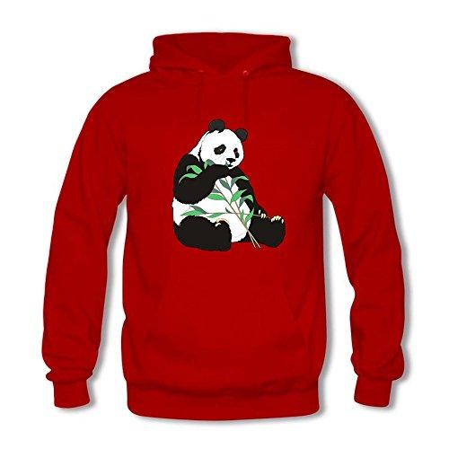 Classic Pullover Hooded Sweatshirt - Men's Funny Panda Pattern Casual Long Sleeve Tops Red M Panda Womens Raglan Hoodie