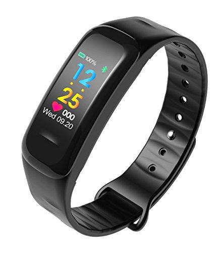 anscio Fitness Tracker Herzfrequenz Monitor Tracker Schlaf Monitor Smart Watch für iPhone Samsung und andere Android oder iOS Smartphones für Erwachsene Kinder (Farbe Display)