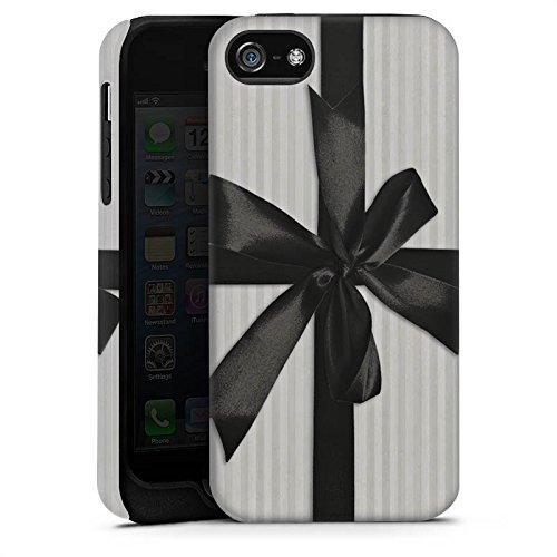 Apple iPhone X Silikon Hülle Case Schutzhülle Geschenk Schleife Grau Tough Case matt