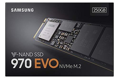 Foto Samsung MZ-V7E250BW SSD 970 EVO, 250 GB, M.2, NVMe, Nero/Arancione