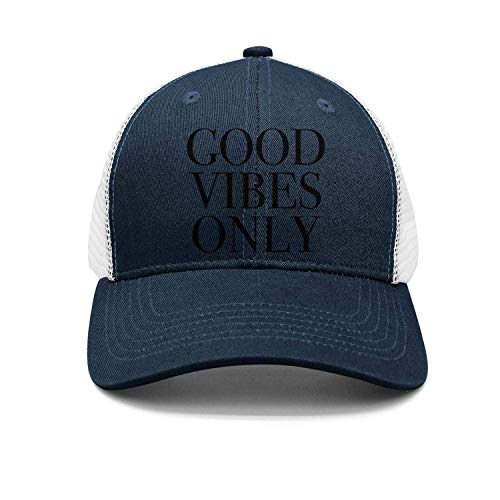 QIOOJ Good Vibes Only Cotton Adjustable Jean cap Leisure Hats ForAdult