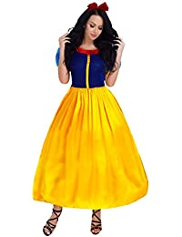 Tiaobug Femme Fille Set de Déguisement Princesse Blanche Neige Robe Noël  Halloween Carnaval Cosplay Costume S c3bc226dae40
