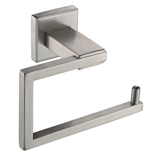 Sayayo Toilettenpapierhalter Badrollenhalter Wandmontage Modern Square Design Edelstahl gebürstet Nickel EGK8003