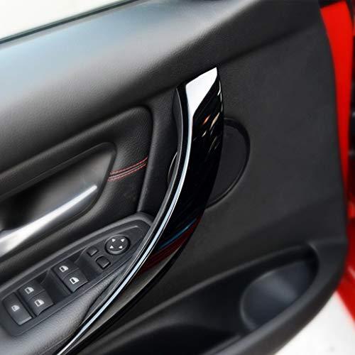 Lorsoul Griff Innen hinten Links rechts Tür Black Panel Pull Abdeckung Trim Ersatz für BMW F30 / F35 51427281465 51427281466 - Tür Hinten Rechts Panel