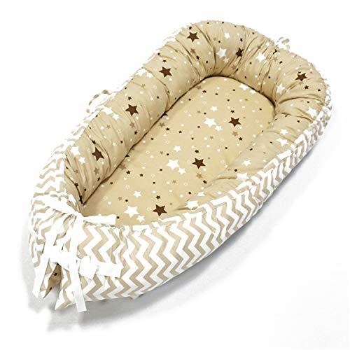 Chaise longue pour nouveau-né, gigoteuse bionique, housse amovible, lit bionique pour bébés, tout-petits, lit de couchage bionique pour bébé, lit de bébé portable amovible