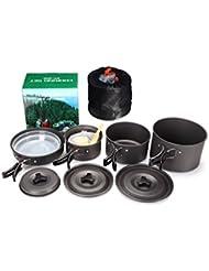 AOTU 4 - 5 Personas Camping al Aire Libre/ Utensilios de Cocina/ Mochilas/ Senderismo/ Cocinar Picnic Sets de Ollas
