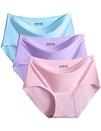 9ec3046355a FEOYA Slip Femme Invisible sans Couture Culotte Ultra Lisse Mince Doux  Sous-Vêtement Respirant Super