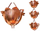 Monarch Rain Chains 28501 3' Pure Copper Lotus Rain Chain Extension