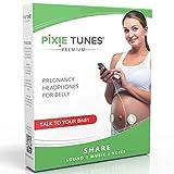 Pixie Tunes Sistema de bocinas Baby Bump para reproducir sonido, música y hablar con su bebé en el útero desde cualquier teléfono móvil, tableta y dispositivo de audio portátil.