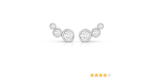 Ladies Guess Silver Plated Crystal Beauty Earrings UBE84124
