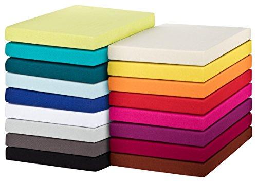 MOON-Trend Spannbetttuch Spannbettlaken Jersey 100{4d569014c8c6625e03ffeebe75596df06eec339862b5c11128db9cd0bbe033ef} Baumwolle-kastanie-70x140