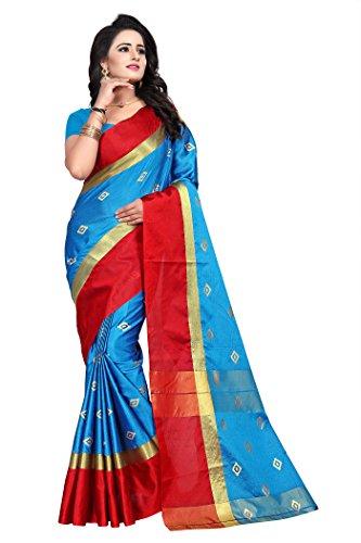 Roadstar India Women's Tussar Silk Saree Kanchipuram Style (Latest Designer Sarees /Party...