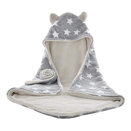 Suave manta para bebé con capucha