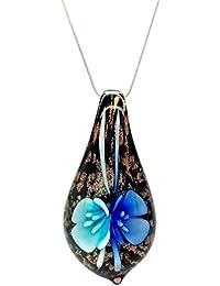 fc6172a58d9b Motivos florales decorativo luz y oscuro diseño de flor azul persiana  veneciana de Murano en forma