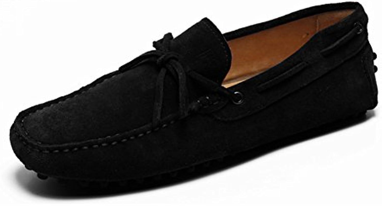 QIDI-Men's shoes Zapatos de Cordones para Hombre Negro Negro EU41/UK7.5-8 -