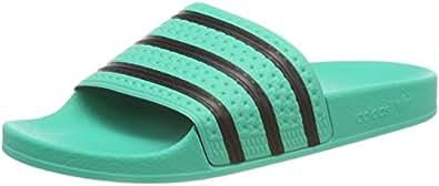 adidas Herren Adilette Pantoffeln , Grün (Hi-res Green S18/core Black/hi-res Green S18) , 36 2/3 EU