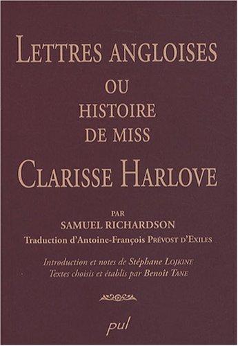 Lettres angloises, ou histoire de Miss Clarisse Harlove par Samuel Richardson